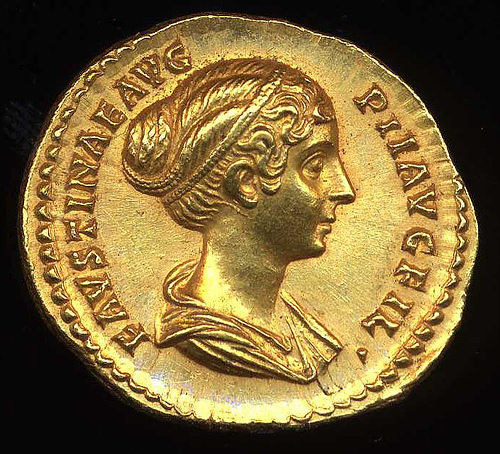 Image result for faustina the younger coin