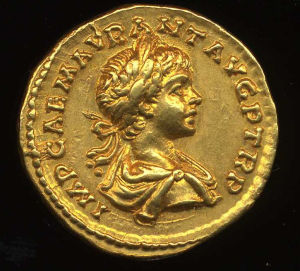 Obverse image of a coin of Caracalla