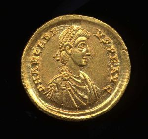 Obverse image of a coin of Arcadius