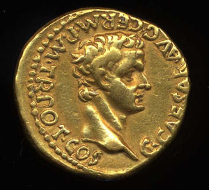 Obverse image of a coin of Caligula