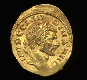 Obverse image of a coin of Claudius Gothicus