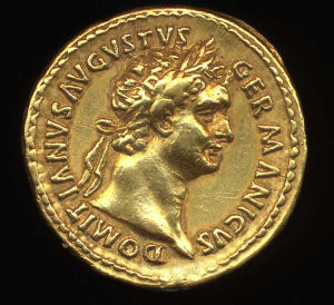 Obverse image of a coin of Domitian