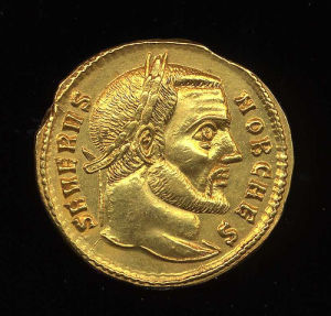 Obverse image of a coin of Severus