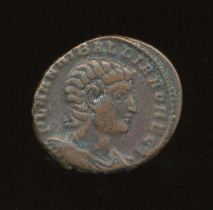 Obverse image of a coin of Hannibalianus