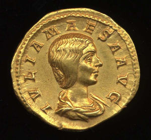 Obverse image of a coin of Julia Maesa