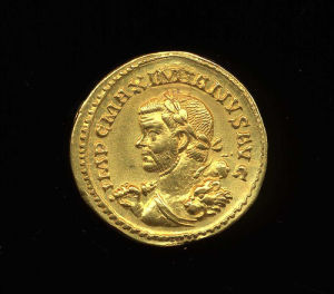 Obverse image of a coin of Maximian