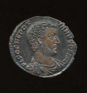 Obverse image of a coin of Nepotianus