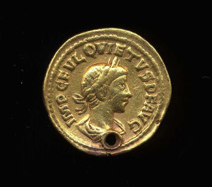 Obverse image of a coin of Quietus
