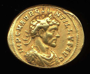 Obverse image of a coin of Quintillus