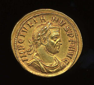 Obverse image of a coin of Julian (of Pannonia)