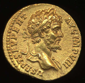 Obverse image of a coin of Septimius Severus