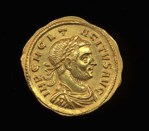 Obverse image of a coin of Tacitus