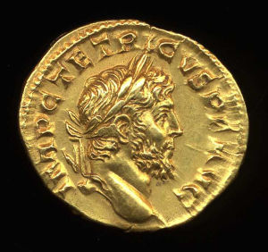 Obverse image of a coin of Tetricus I