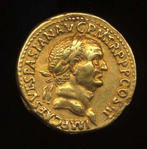 Obverse image of a coin of Vespasian