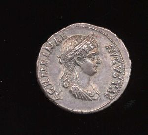 Obverse image of a coin of Agrippina the Younger