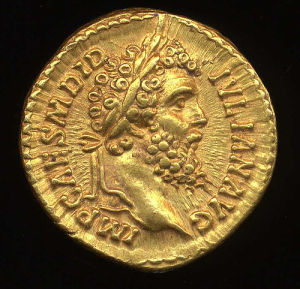 Obverse image of a coin of Didius Julianus
