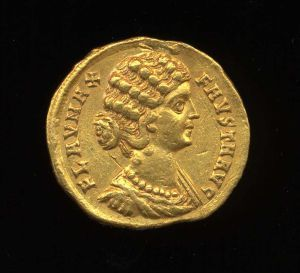 Obverse image of a coin of Fausta