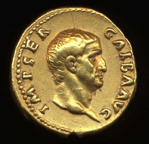 Obverse image of a coin of Galba