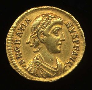 Obverse image of a coin of Gratian