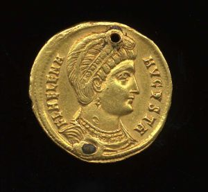 Obverse image of a coin of Helena (Empress)