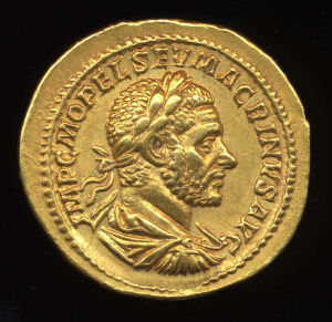Obverse image of a coin of Macrinus