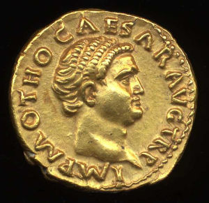 Obverse image of a coin of Otho