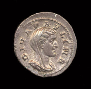 Obverse image of a coin of Paulina