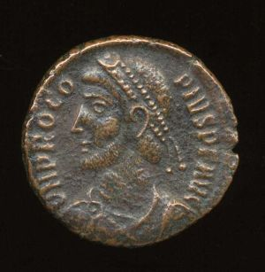 Obverse image of a coin of Procopius