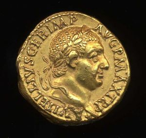 Obverse image of a coin of Vitellius