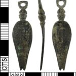 Copper alloy Roman nail cleaner found in Bedfordshire (BUC85FC3D). Copyright: Portable Antiquities Scheme, CC-BY Licence