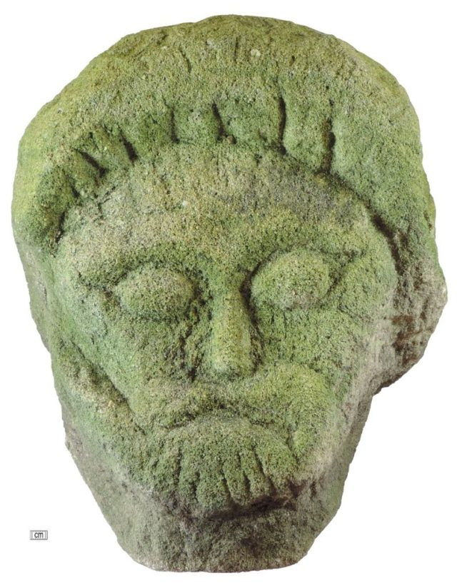 Stone head possibly dating to the Iron Age