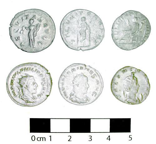 Radiate coin hoard from Ripley