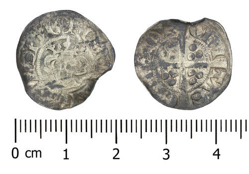 Silver Medieval Penny of Edward I.