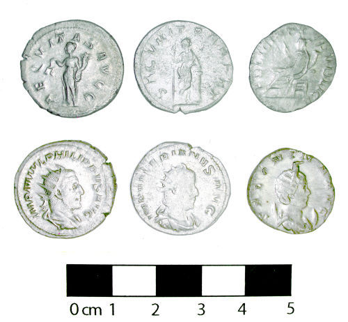 Radiate coin hoard from Ripley