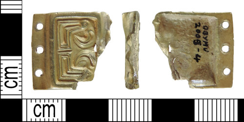 Saxon gold buckle plate (DENO-459ADD) Copyright: Derby Museums Trust License: CC-BY