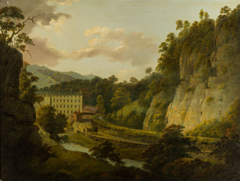 Arkwright's Mills, painted by Joseph Wright of Derby, c. 1795-6.