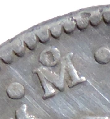 Mint mark showing the coin was minted in Mexico City