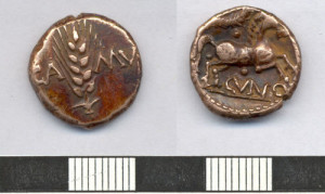 ESS-A22698 gold stater of Cunobelin, minted at Colchester