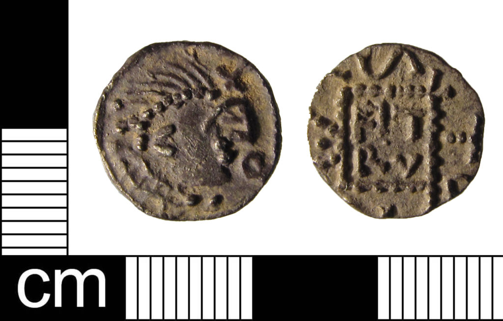 Early Medieval Saroaldo sceat (ESS-CCD2B1 )