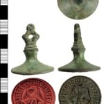 Image of a Medieval seal matrix found in Hampshire (HAMP-66B388). Copyright: Hampshire Cultural Trust, CC-BY Licence.