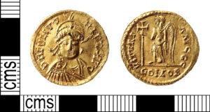 Roman Gold Solidus of Julius Nepos