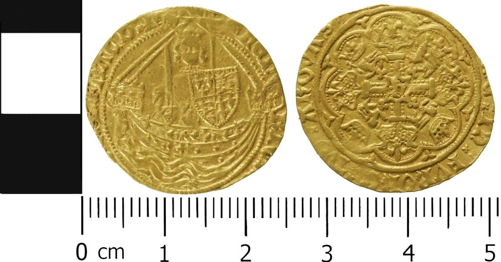 A gold half noble of Henry iV.