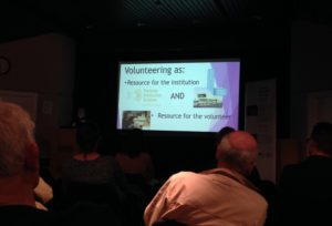Sophie Flynn discussing volunteering at NML. Copyright National Museums Liverpool: Attribution-ShareAlike License.