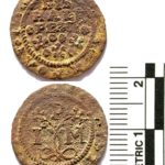 Post-medieval token found in Northamptonshire (BUC-281BCA). Copyright: Portable Antiquities Scheme, CC-BY Licence.
