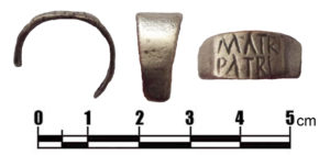 Image of a Roman silver finger ring from the Vindolanda site in Northumberland (NCL-5F85A0). Copyright: Newcastle University, CC-BY Licence.