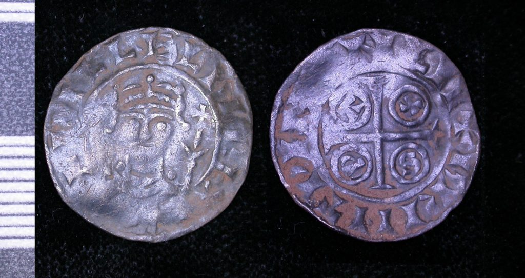 Penny of William Rufus 'PAXS' type, issued 1087-late 1080s. Moneyer Brihtwine at the London mint.