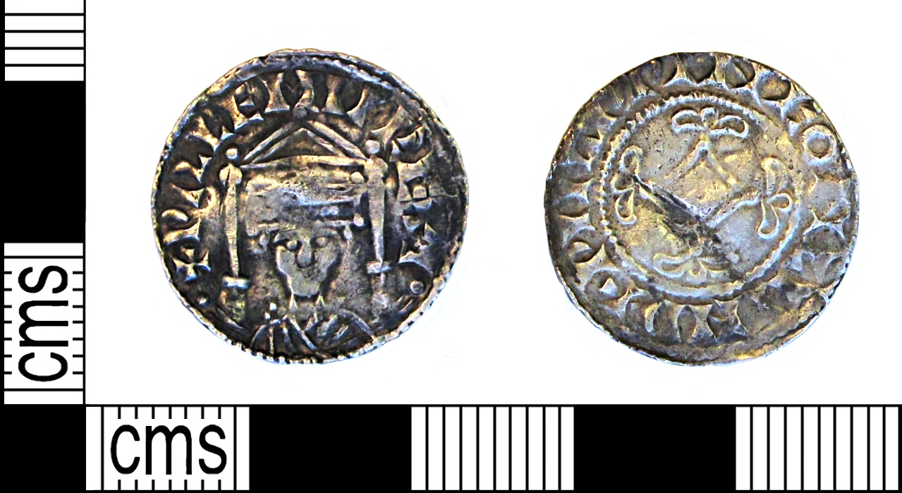 Penny of William the Conqueror's 'canopy' type, issued early - mid-1070s. Moneyer Wulfwine at the mint of London.
