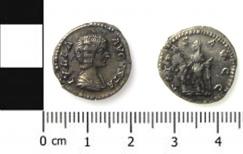 A silver denarius of Julia Domna from Langford, Nottinghamshire