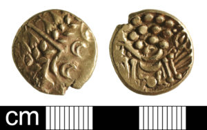 Iron Age gold coin hoard found in Oxfordshire (BH-304361). Copyright: St. Alban's District Council, CC-BY Licence.