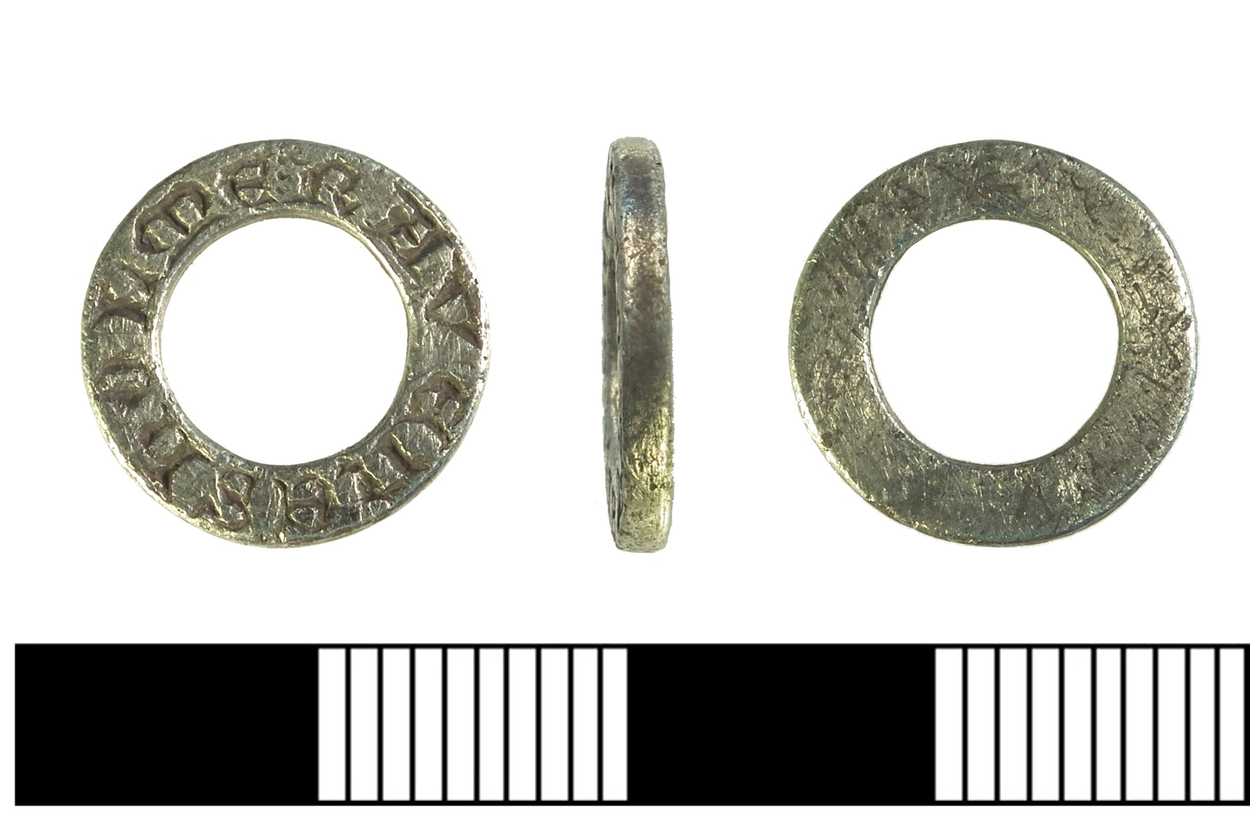 A silver medieval vervel from Surrey